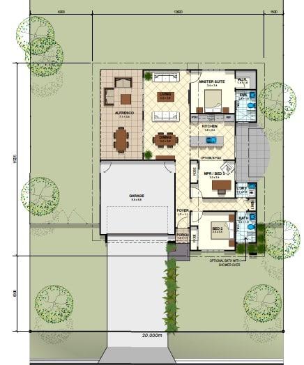 Deluxe Retreat Floor Plan