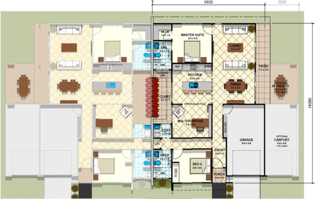 Investment Duplex Floor Plan