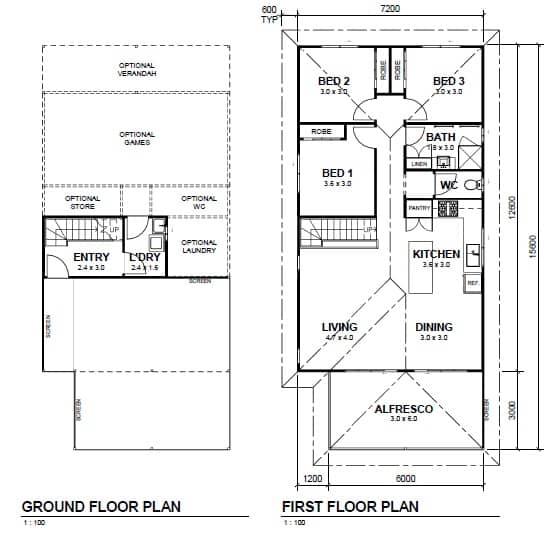Noosa 120 floor plan